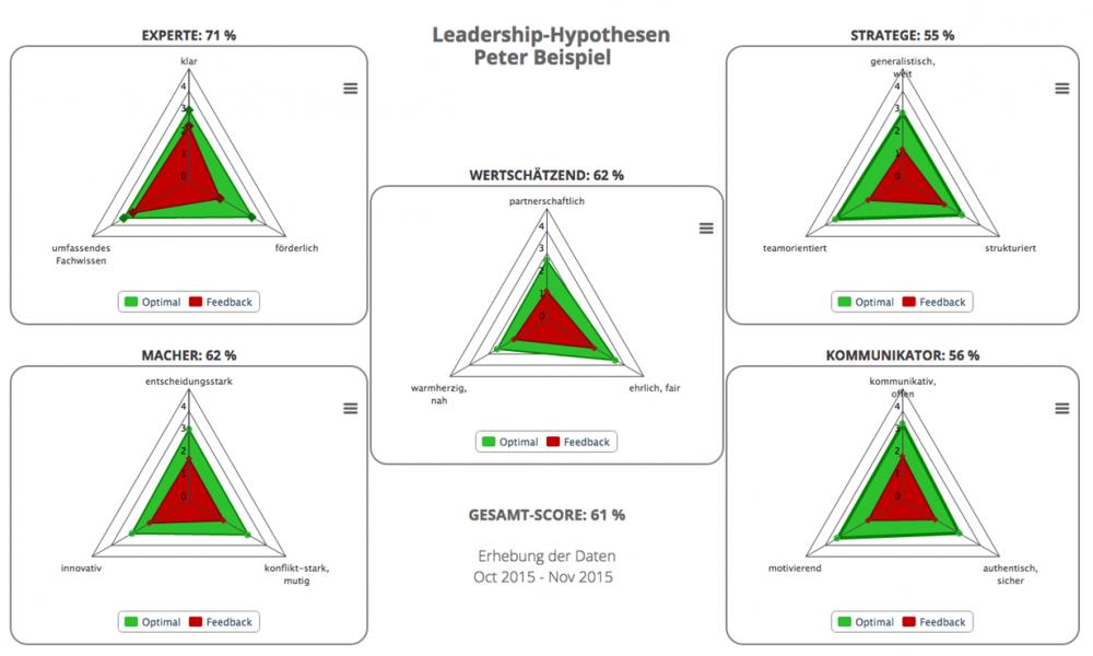 LeadNav, Feedback, Leadershiphypothesen, Beispiel, Experte, Macher, Wertschätzend, Strategie, Kommunikation,