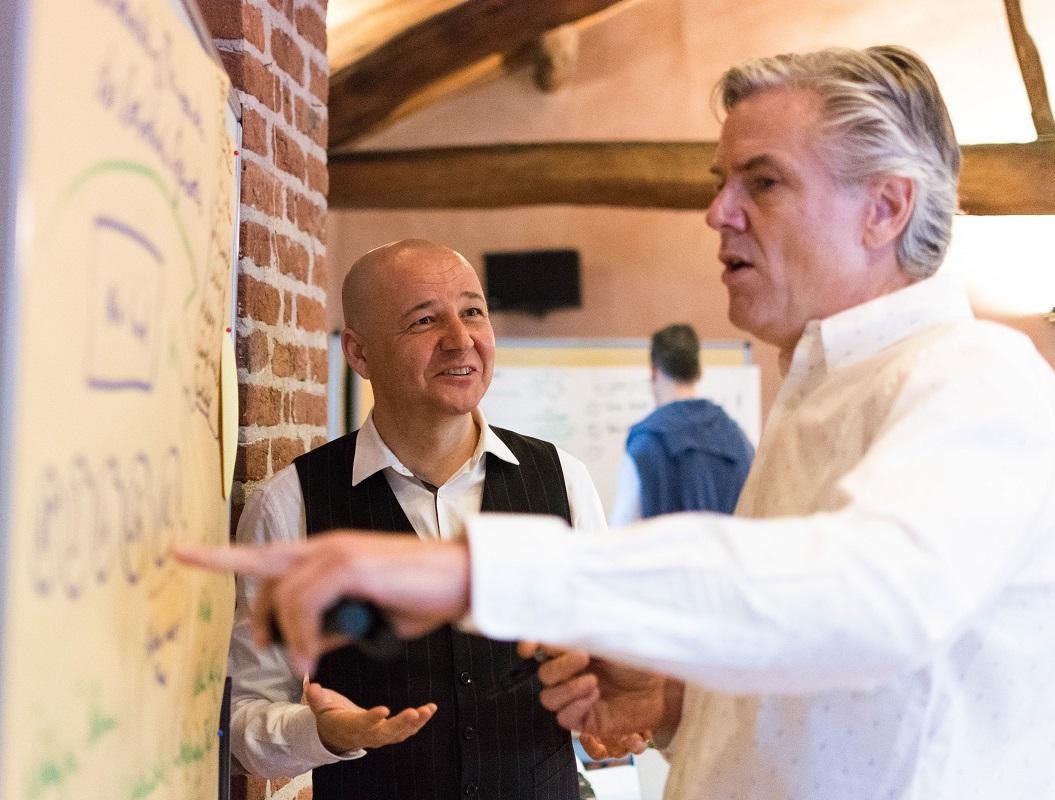 Markus Gruber, Ulrich Schwalb, Pinwand, Workshop, International, IAK Institut für Angewandte Kreativität